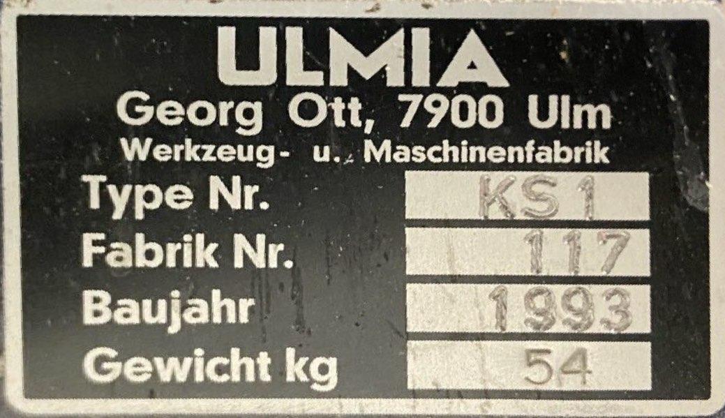Typenschild Ulmia KS1